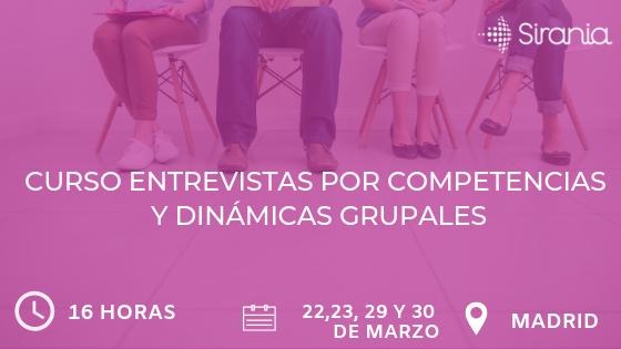 Cursos entrevistas por competencias y dinámicas grupales